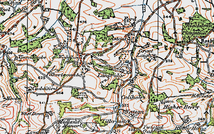 Old map of Latymer Courtenays in 1919