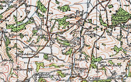 Old map of Langridge in 1919