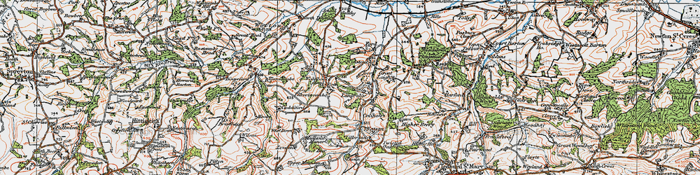 Old map of Woodland Head in 1919