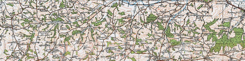 Old map of Tillerton in 1919