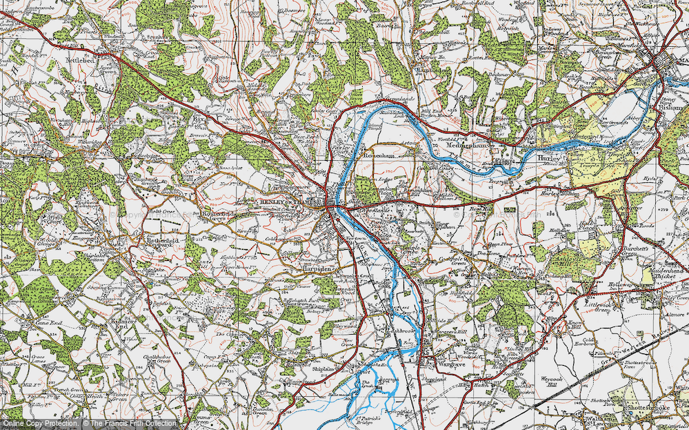 Old Map of Woodlands, 1919 in 1919