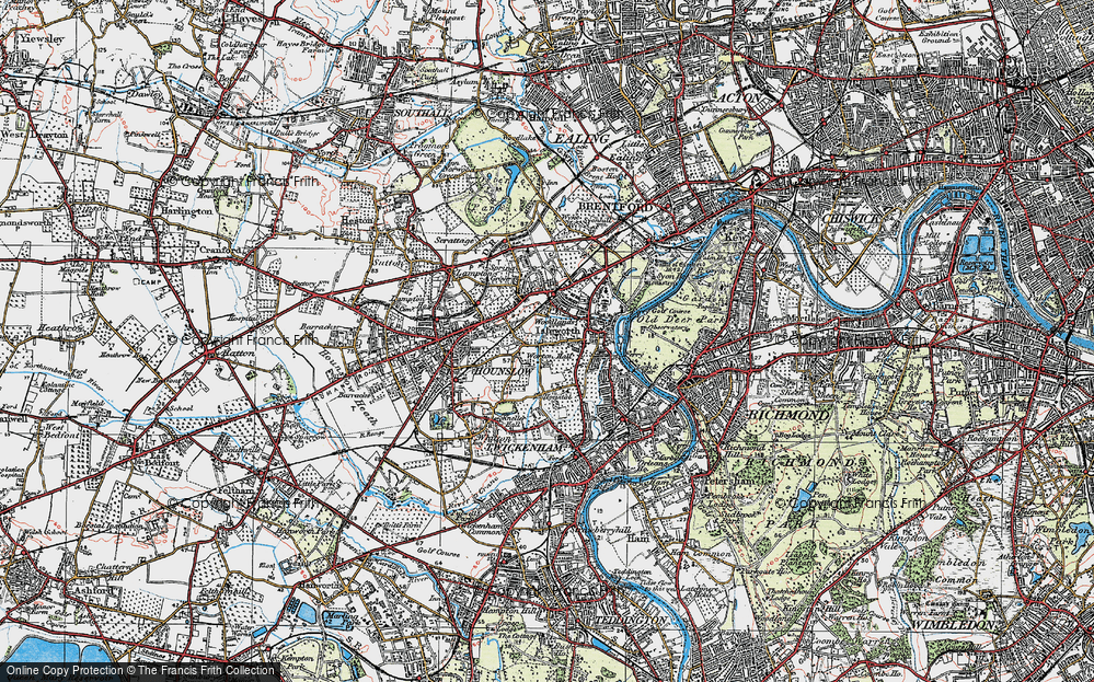 Old Map of Woodlands, 1920 in 1920