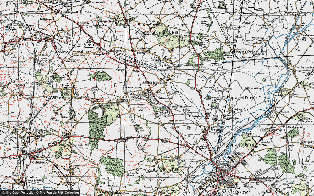 Old Map of Woodlands, 1923 in 1923