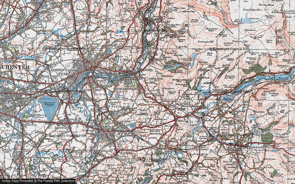 Old Map of Woodlands, 1924 in 1924