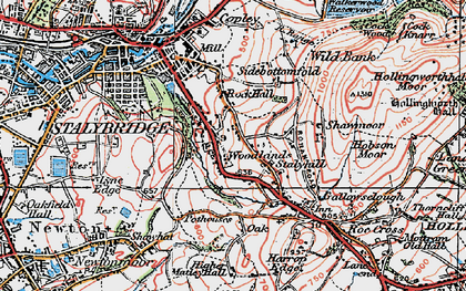 Old map of Woodlands in 1924