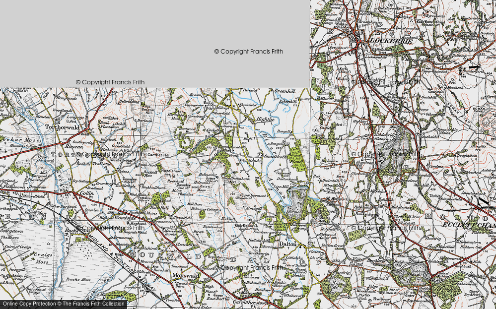 Old Map of Woodlands, 1925 in 1925