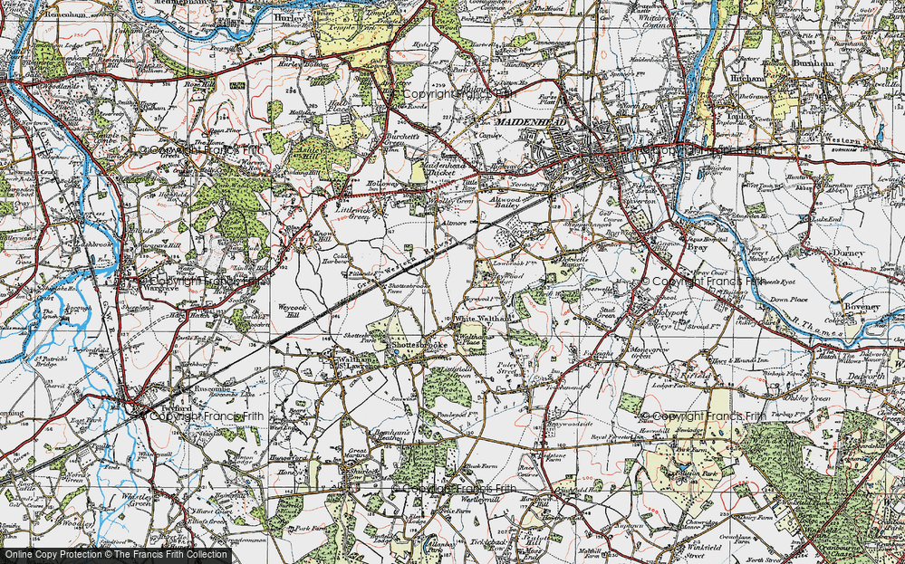 Old Map of Historic Map covering Lillibrooke Manor in 1919
