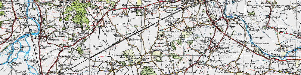 Old map of Woodlands Park in 1919