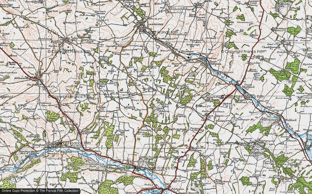 Old Map of Woodlands St Mary, 1919 in 1919