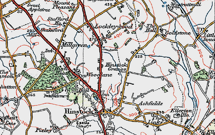 Old map of Woodlane in 1921