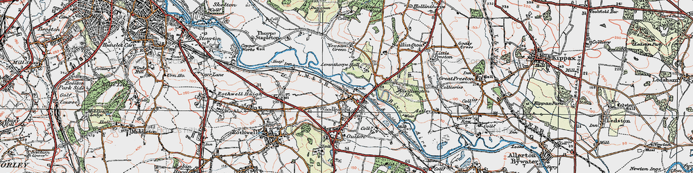 Old map of Woodlesford in 1925