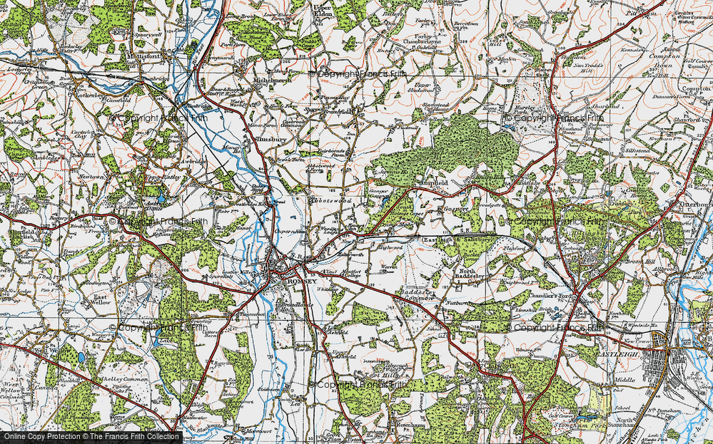 Old Map of Woodley, 1919 in 1919