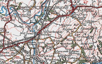 Old map of Woodley in 1923