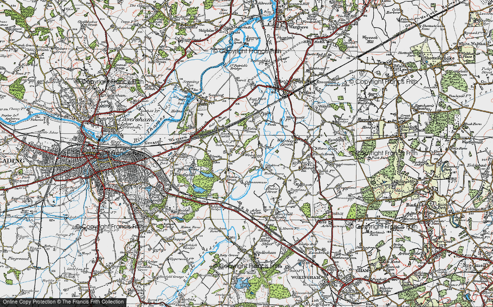 Old Map of Woodley Green, 1919 in 1919