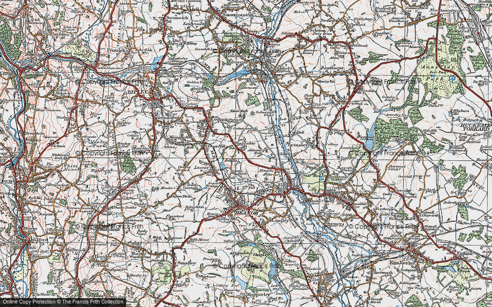 Old Map of Woodlinkin, 1921 in 1921