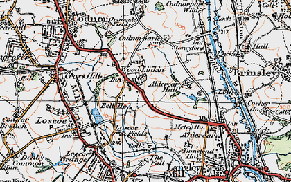 Old map of Woodlinkin in 1921