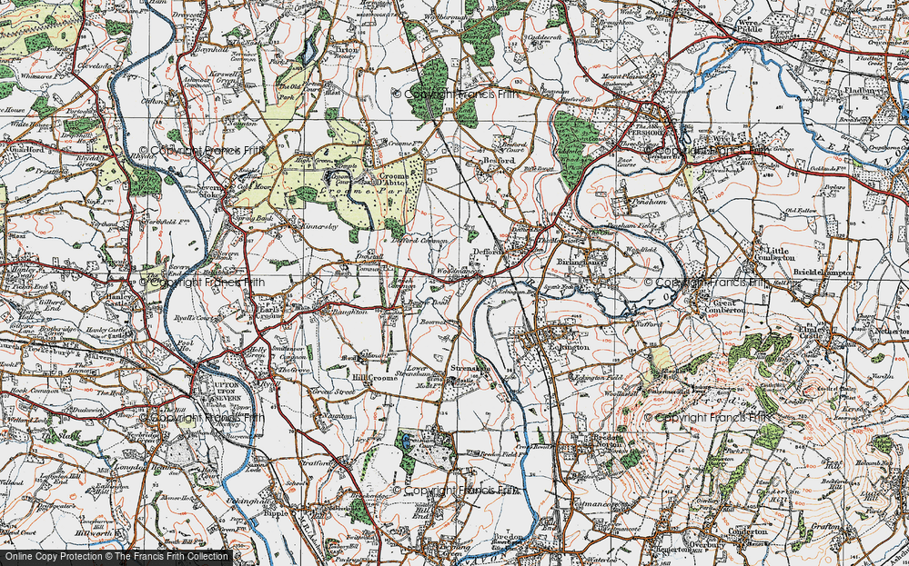 Old Map of Woodmancote, 1919 in 1919