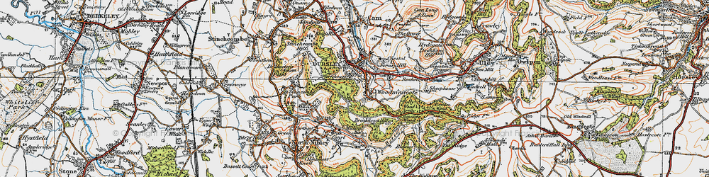 Old map of Woodmancote in 1919