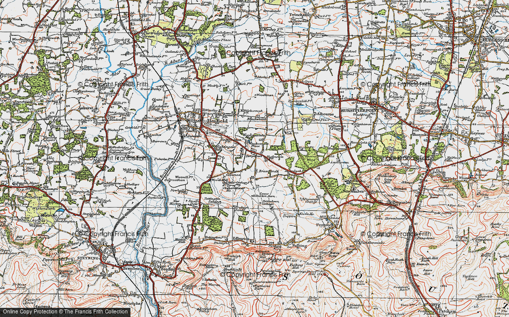 Old Map of Woodmancote, 1920 in 1920