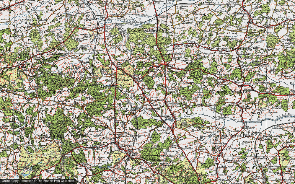 Old Map of Woodmans Green, 1921 in 1921