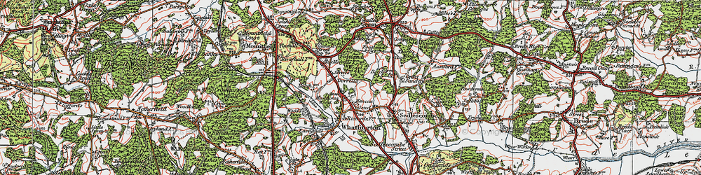 Old map of Woodmans Green in 1921