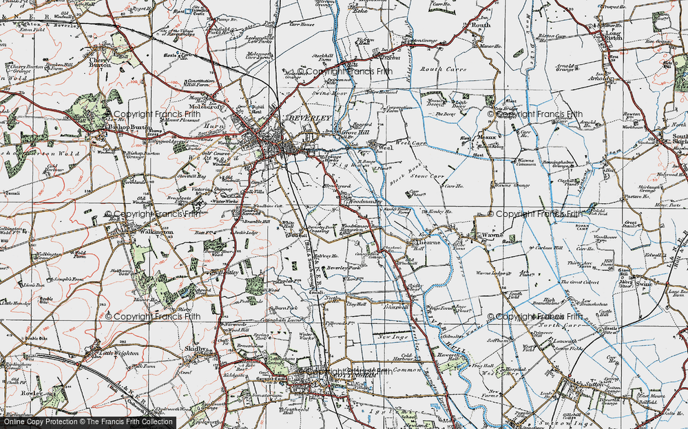 Old Map of Woodmansey, 1924 in 1924