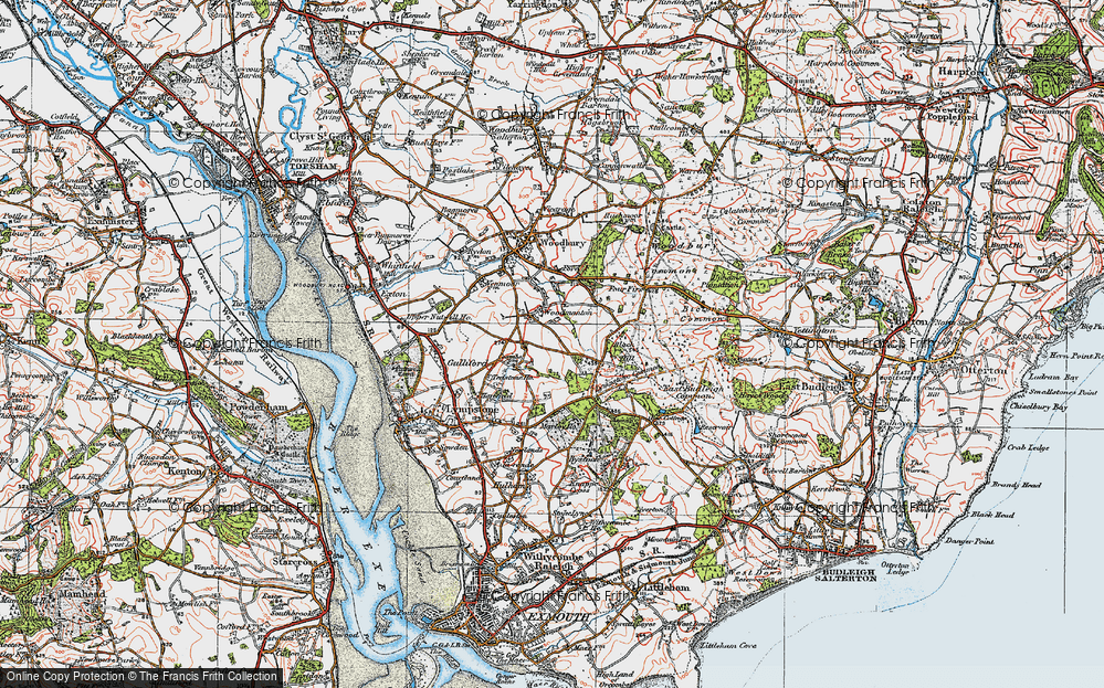 Old Map of Woodmanton, 1919 in 1919