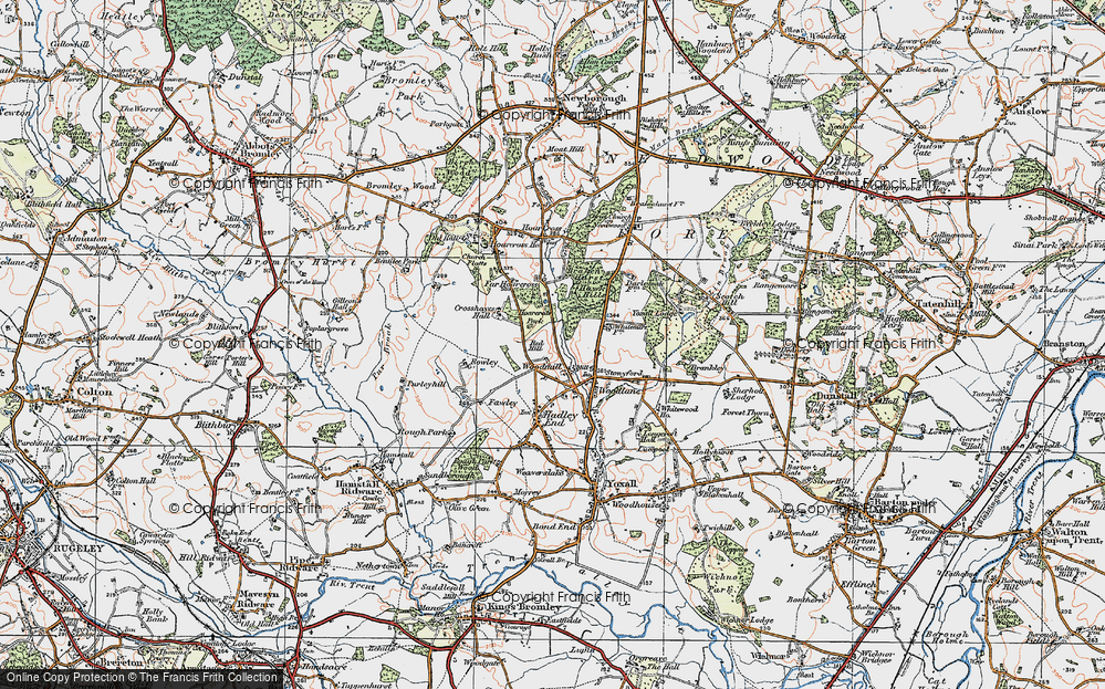 Old Map of Woodmill, 1921 in 1921