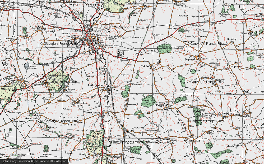 Old Map of Woodnook, 1922 in 1922
