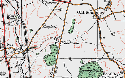 Old map of Woodnook in 1922