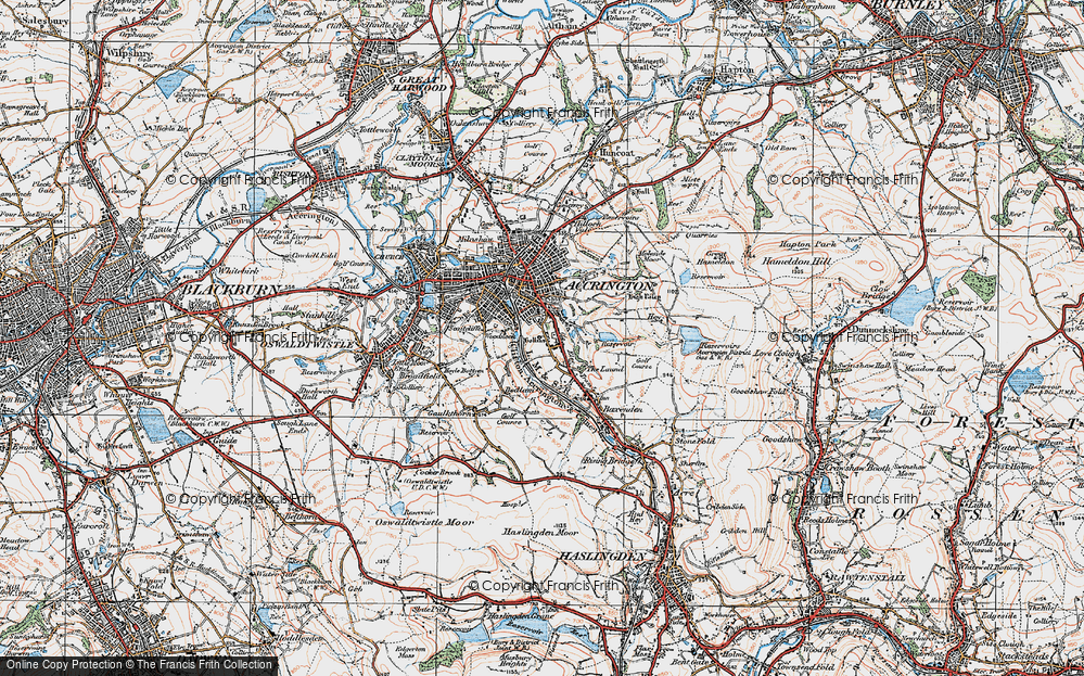 Old Map of Woodnook, 1924 in 1924