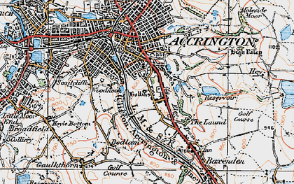 Old map of Woodnook in 1924