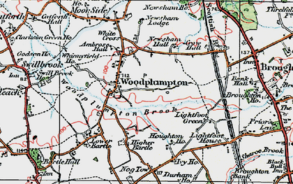 Old map of Woodplumpton in 1924