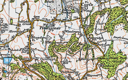 Old map of Adcombe Hill in 1919
