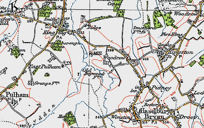 Old map of Woodrow in 1919
