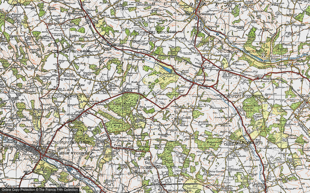 Old Map of Woodrow, 1920 in 1920