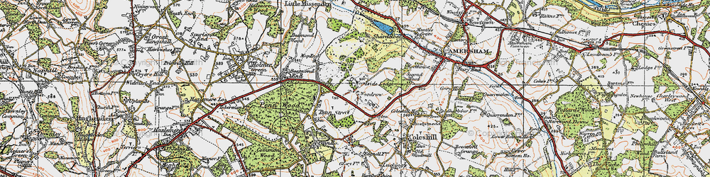 Old map of Woodrow in 1920