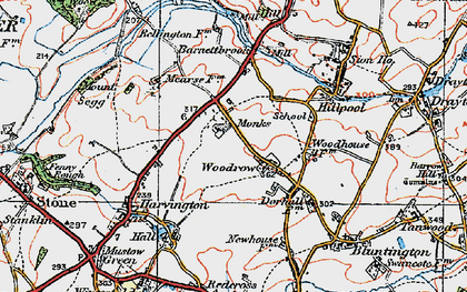 Old map of Woodrow in 1921