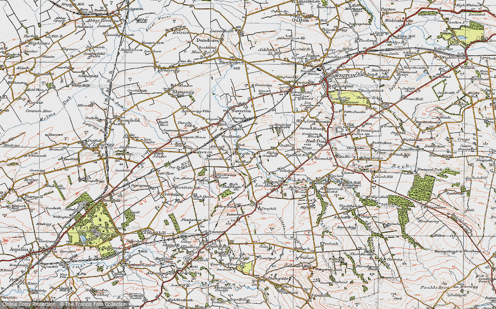 Old Map of Woodrow, 1925 in 1925