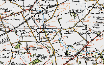 Old map of Woodrow in 1925