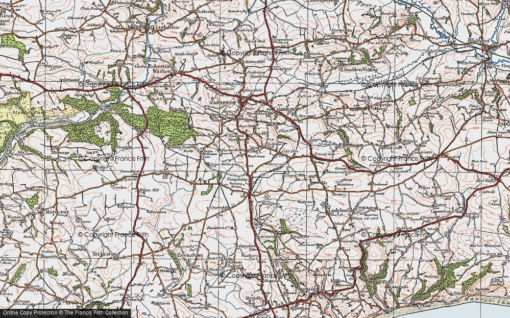 Old Map of Woods Cross, 1922 in 1922