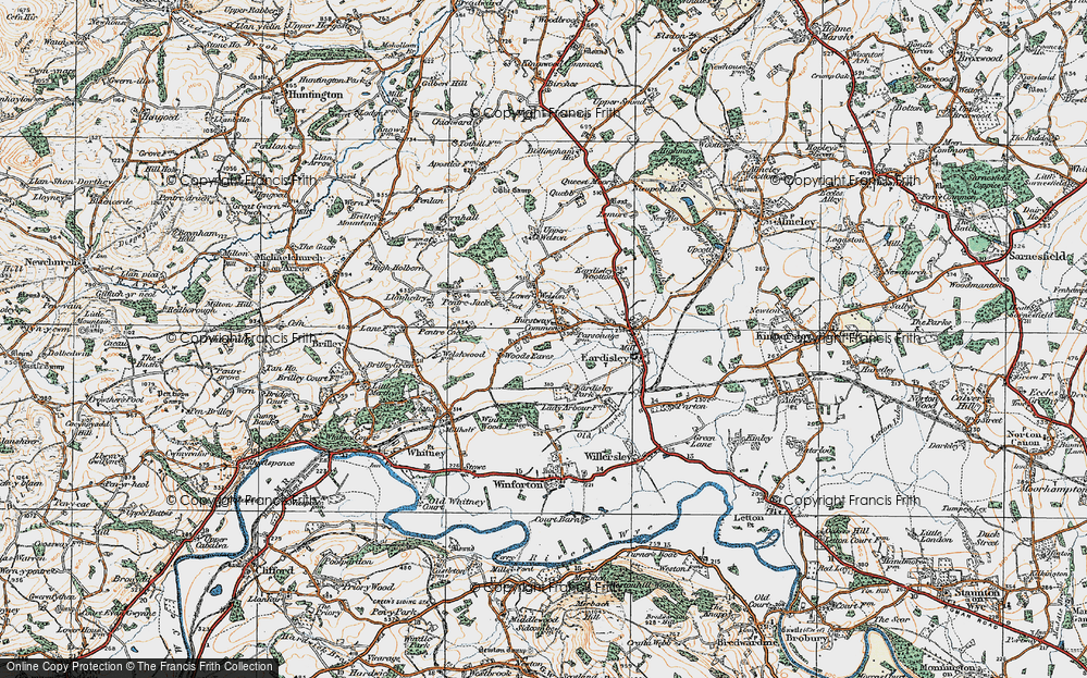 Old Map of Woods Eaves, 1919 in 1919