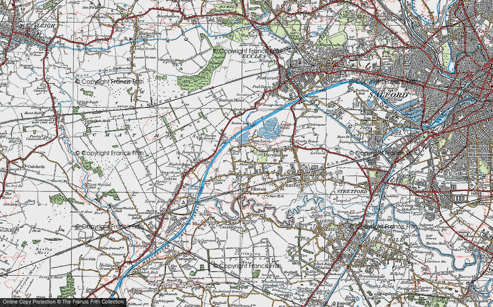 Old Map of Woods End, 1924 in 1924