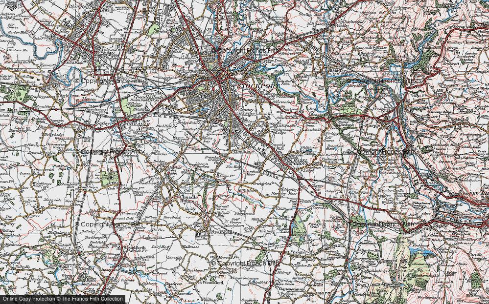Old Map of Woods Moor, 1923 in 1923