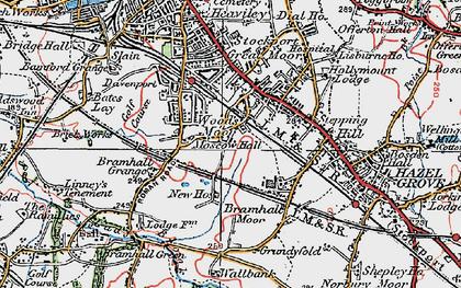 Old map of Woods Moor in 1923