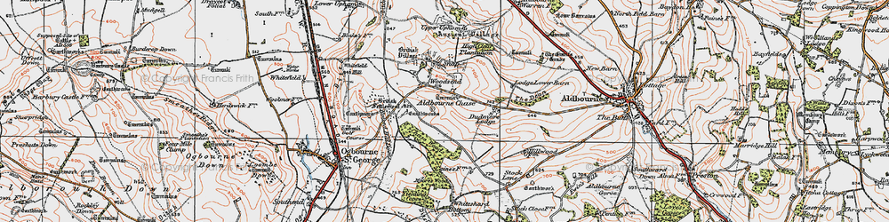 Old map of Aldbourne Chase Ho in 1919
