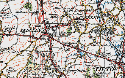 Old map of Woodsetton in 1921
