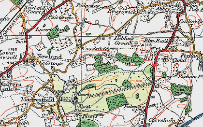 Old map of Woodsfield in 1920