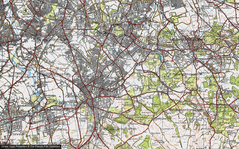 Old Map of Woodside, 1920 in 1920