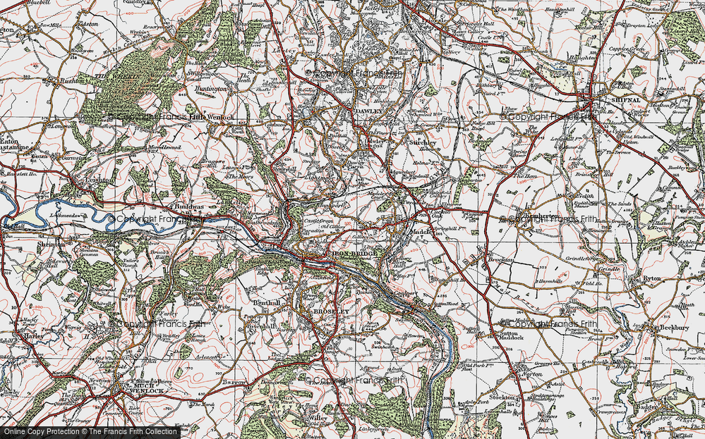 Old Map of Woodside, 1921 in 1921